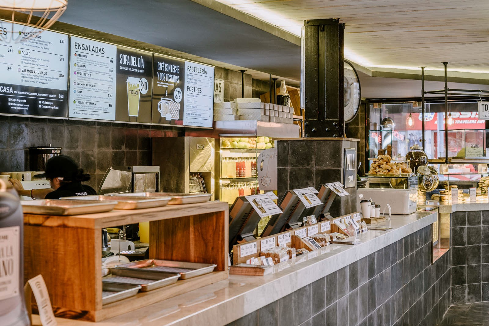 commercial coffee shop counter design at discount for bar OUYEE-4