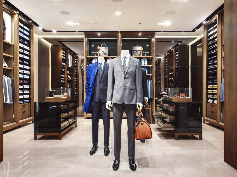 high-end garment display stand at discount for show room OUYEE