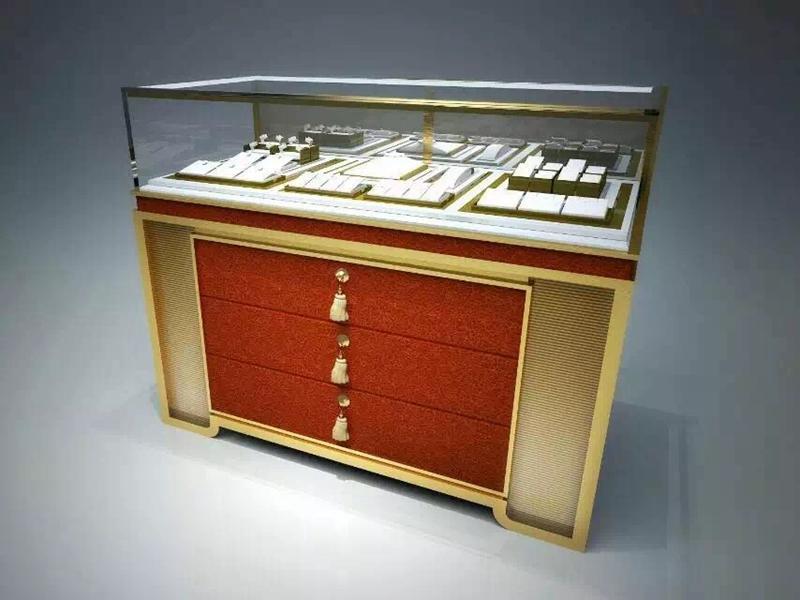 supplies wooden interior OUYEE Brand jewellery shop showcase design manufacture