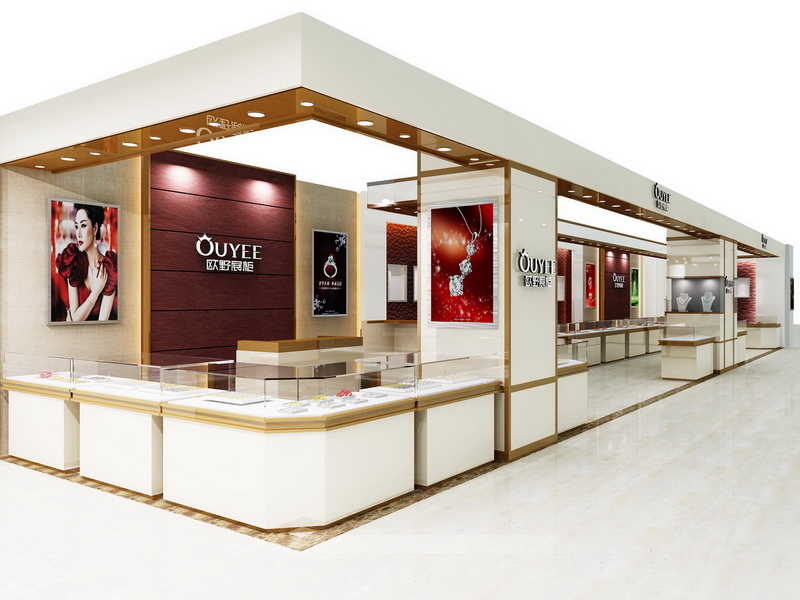 latest jewellery window display commercial for wholesale OUYEE-5