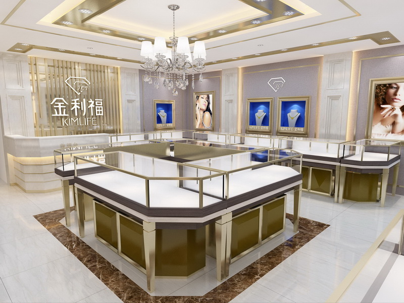 OUYEE top brand jewellery counter display OBM for shop-5