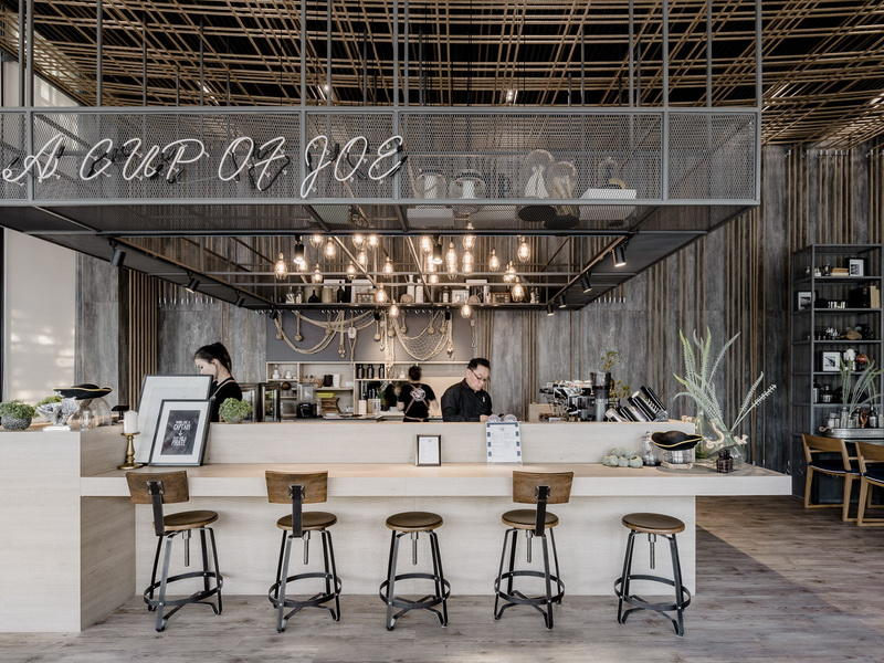 station layout coffee shop design modern OUYEE Brand company