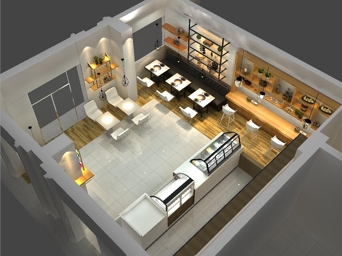OUYEE eye-catching small cafe design cheapest price for furniture-5