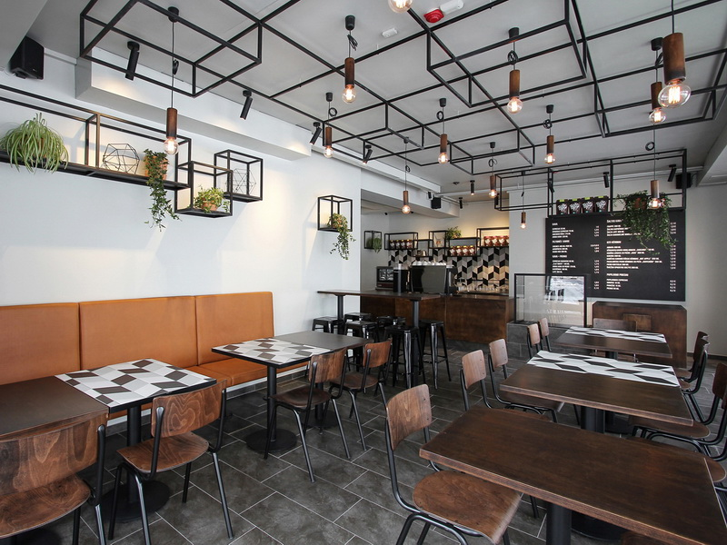 OUYEE chic coffee cafe interior design modern for club-5