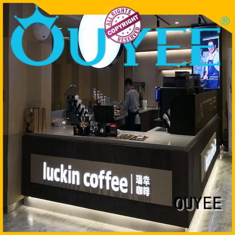 layout Custom design stand coffee shop design OUYEE station