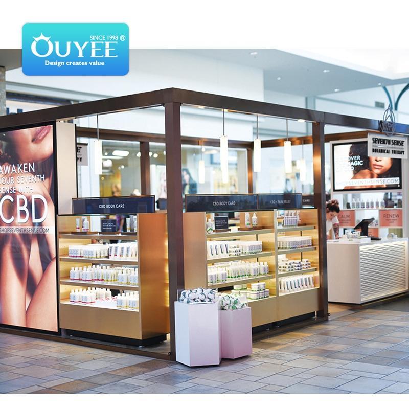 cannabis dispensary 3D interior design hempshopdisplay display rack CBD