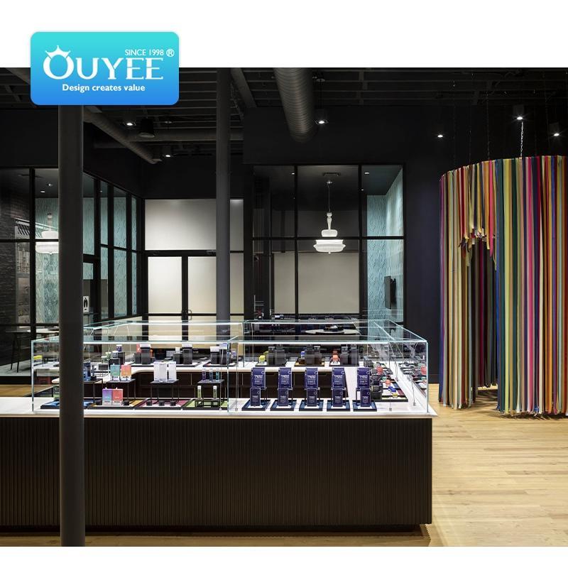 Ouyee weed shop design cbd locking display case