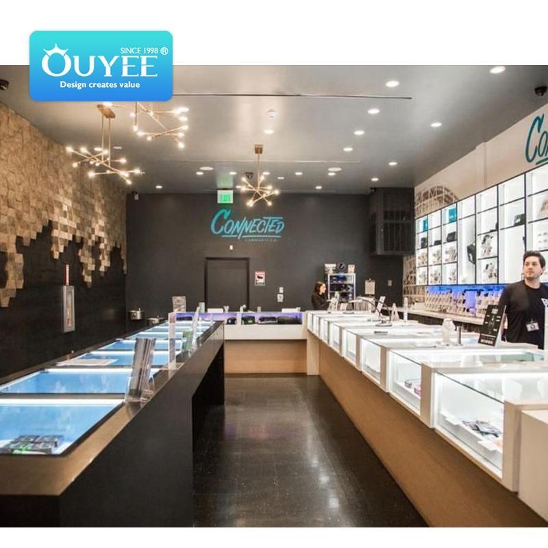 cannabis dispensary 3D interior design cbd life store hemp flower display