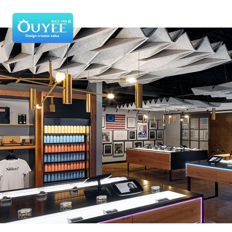 cannabis dispensary 3D interior design cbd oil display stand