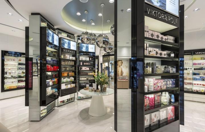 perfume display showcase custom for store OUYEE-1
