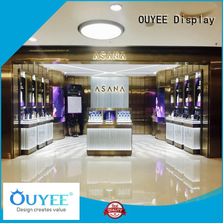 OUYEE Brand stand newest cosmetic shop manufacture