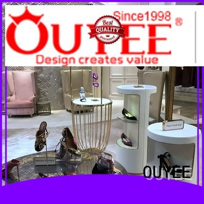 OUYEE Brand footwear wooden wooden shoe rack designs manufacture