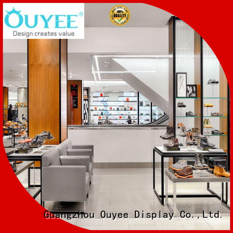 Custom interior cabinet wooden shoe rack designs OUYEE wall