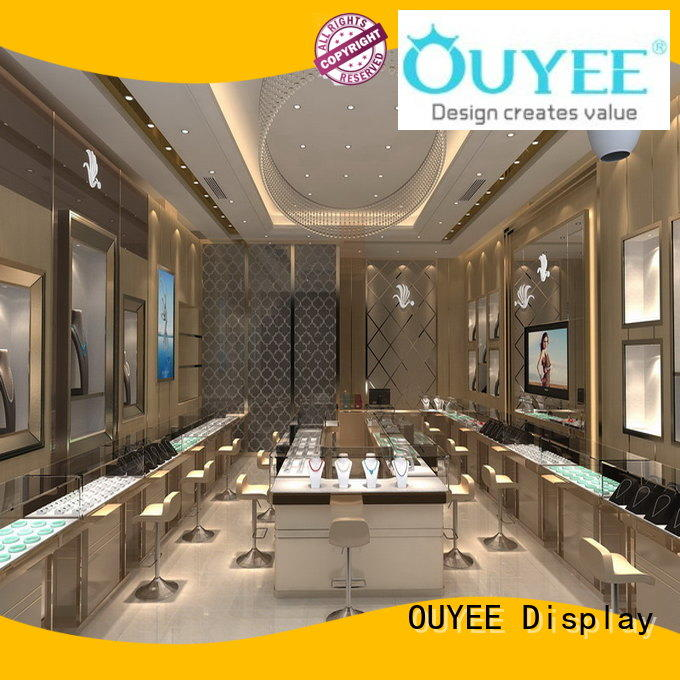 commercial jewellery showroom ceiling design custom for wholesale OUYEE
