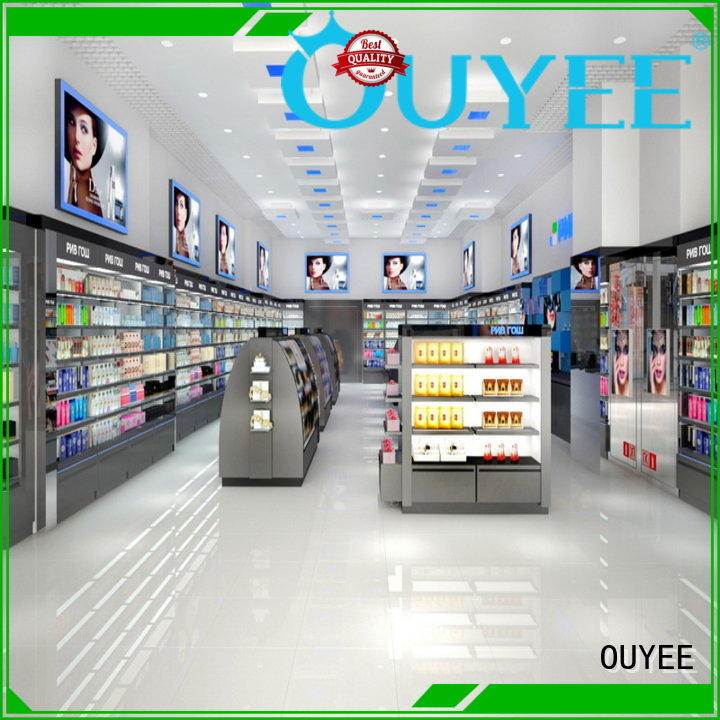 OUYEE funky style store display shelves at discount for store