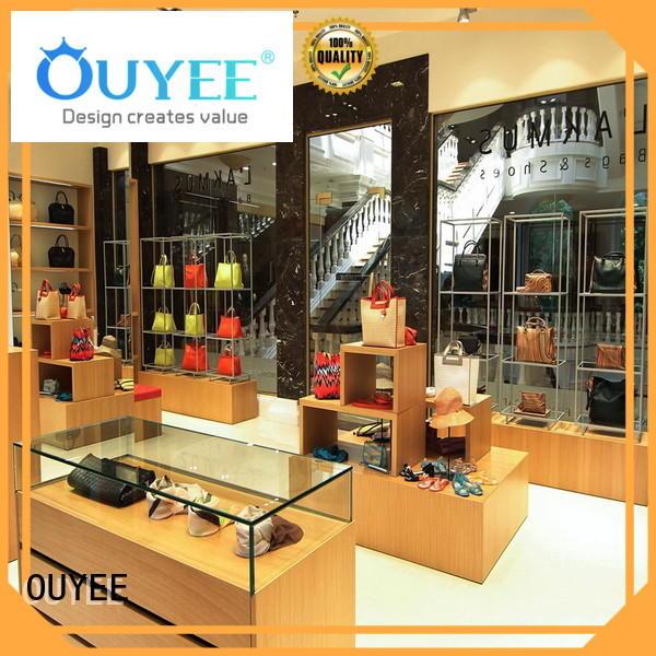 Wooden Display Shelf Design Furniture Bag Display OY-SSD008