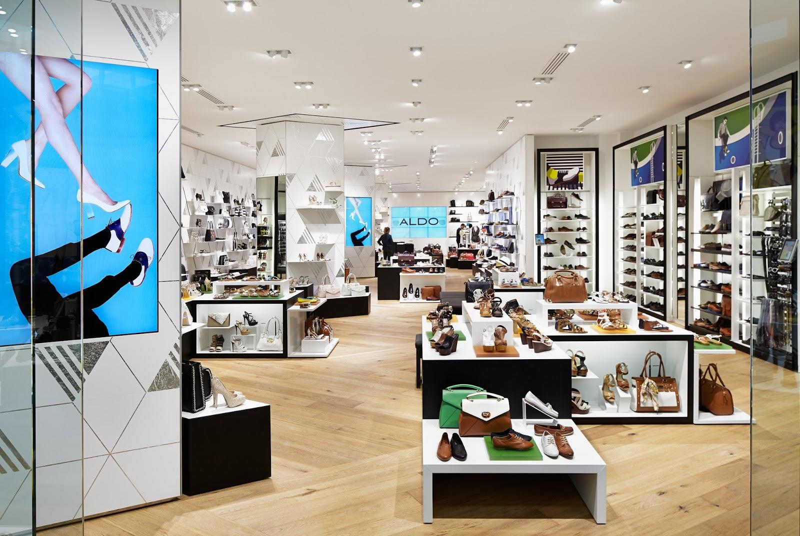 OUYEE chic shoe shop interior design popular for chain shop-3