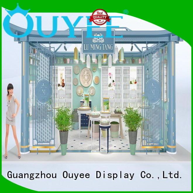 makeup retail display vanity racks OUYEE Brand cosmetic shop