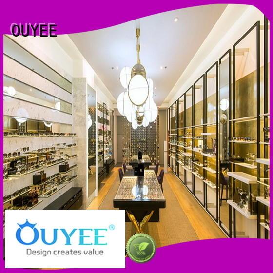 OUYEE custom eyewear display case top brand for chain shop