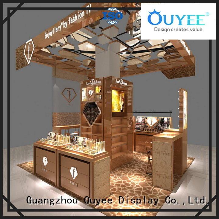 OUYEE Brand furniture vanity racks cosmetic shop manufacture