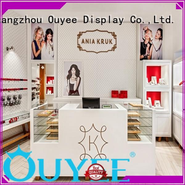 table counters jewellery shop showcase design showroom supplies OUYEE Brand