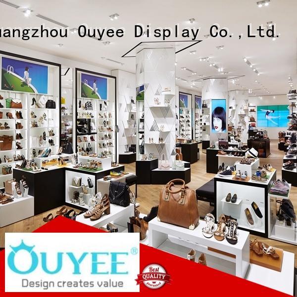 Custom designs shoes wooden shoe rack designs OUYEE shop