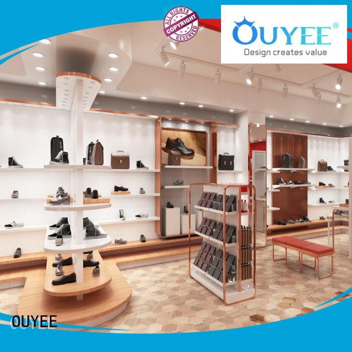 Hot display shoe cabinet furniture shelves OUYEE Brand