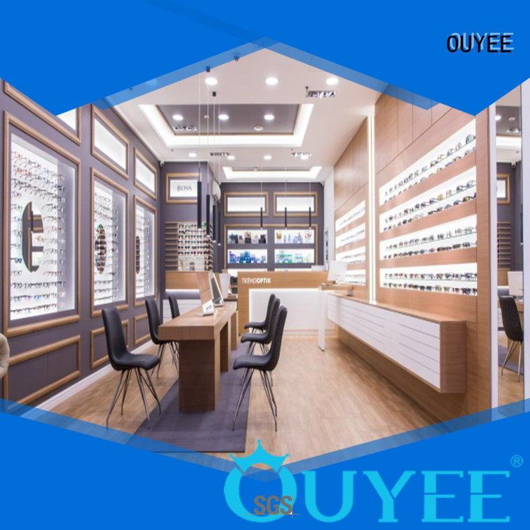 glasses wooden fixture OEM optical displays OUYEE
