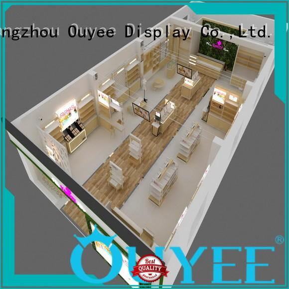 makeup retail display newest decoration Warranty OUYEE