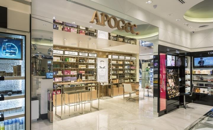 perfume display showcase custom for store OUYEE-2