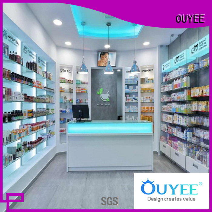 commercial pharmacy display cabinet free delivery for store OUYEE