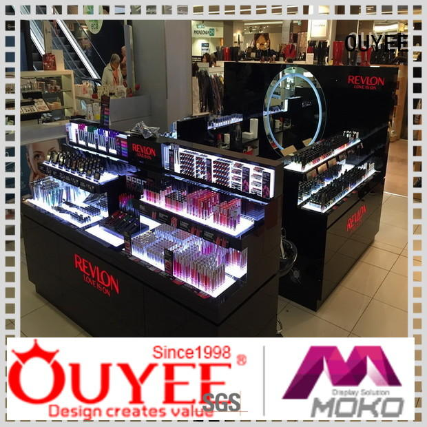 display beauty showroom OUYEE Brand makeup retail display manufacture