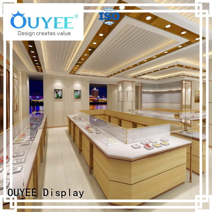 commercial jewellery shop showcase design store OUYEE company