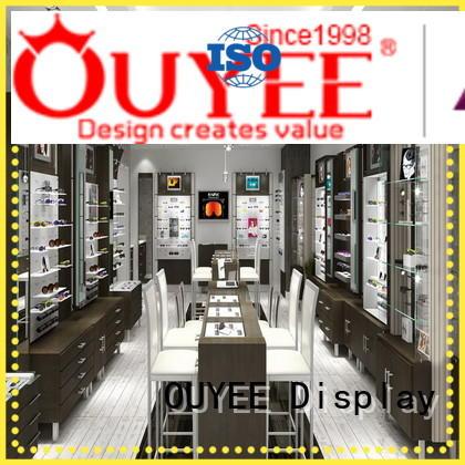 OUYEE popular eyeglass display ideas wooden for shop
