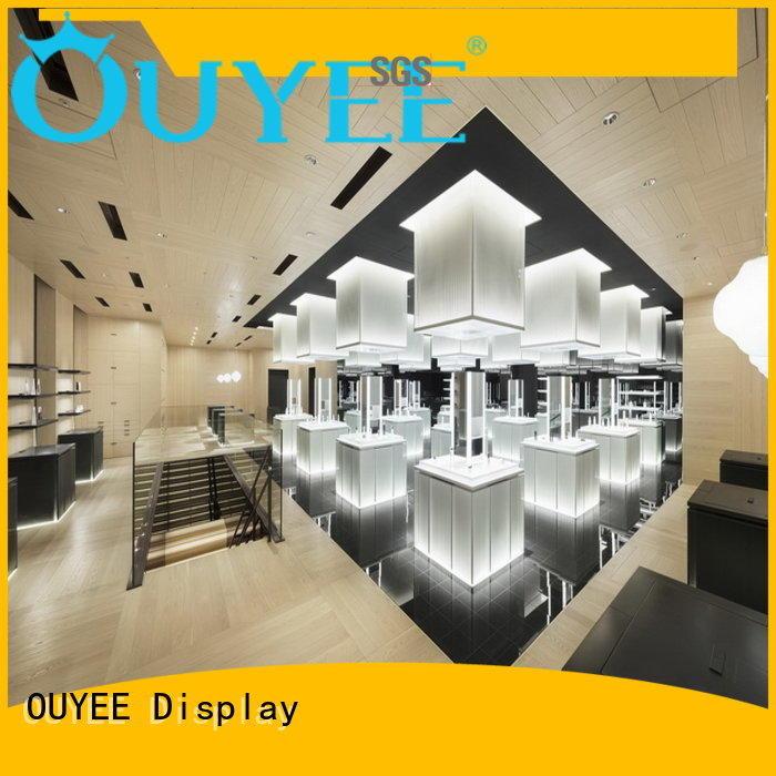 kiosk makeup design OEM cosmetic shop OUYEE