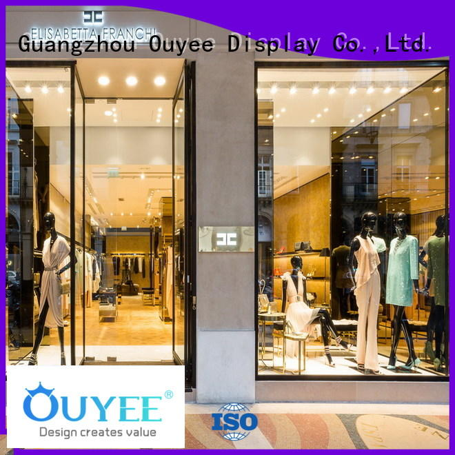 boutique clothing display racks garment interior Warranty OUYEE