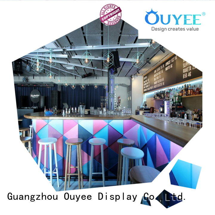 OUYEE popular cafe display counters on-sale for bar