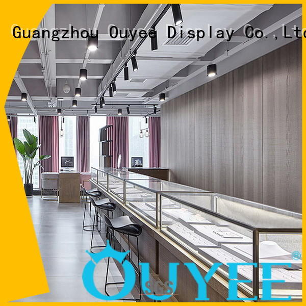 OUYEE chic style retail jewellery display cabinets commercial for wholesale