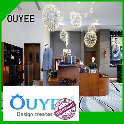 OUYEE Brand showroom retail clothing shelves clothing factory