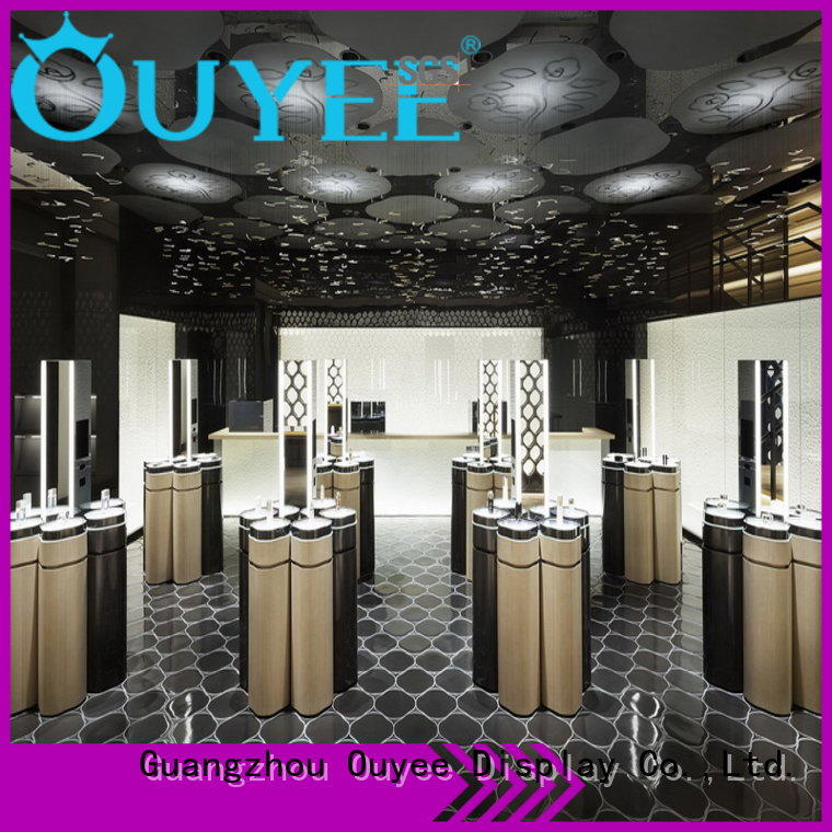 OUYEE universal cosmetic showcase cheapest factory price for decoration