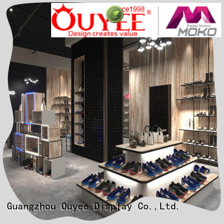 OUYEE chic custom shoe rack at discount for business