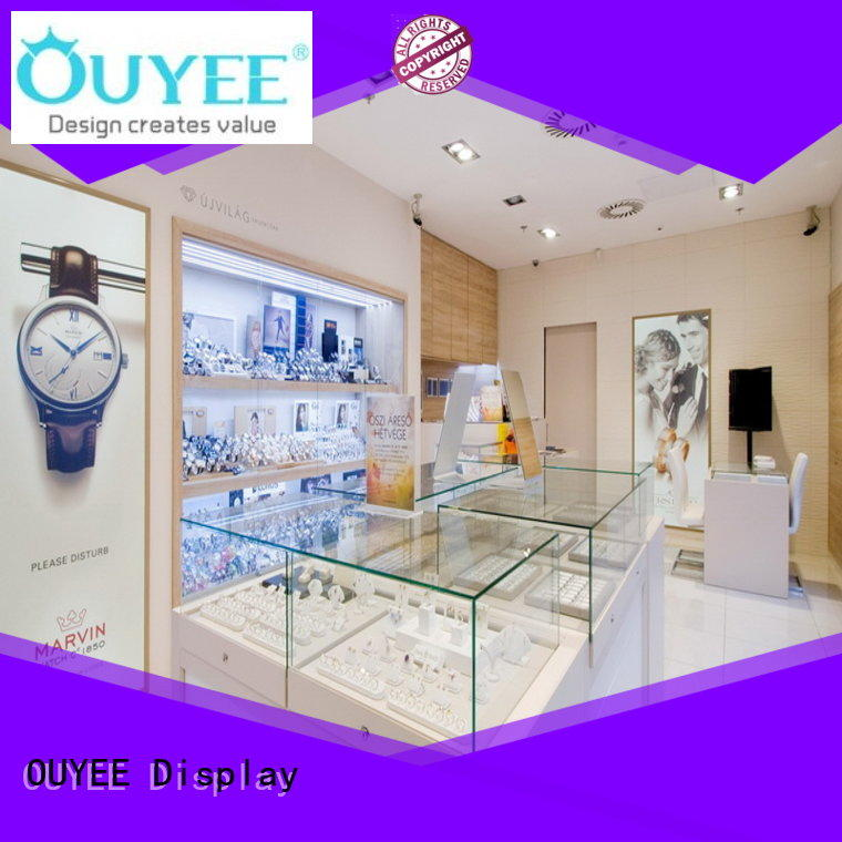 store Custom commercial case jewellery shop design OUYEE sale