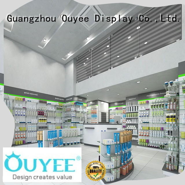 OUYEE modern pharmacy racks supplier for store