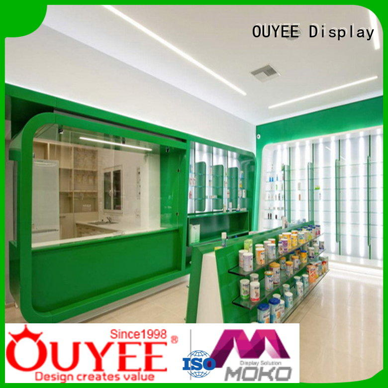 Quality OUYEE Brand pharmacy counter design interior