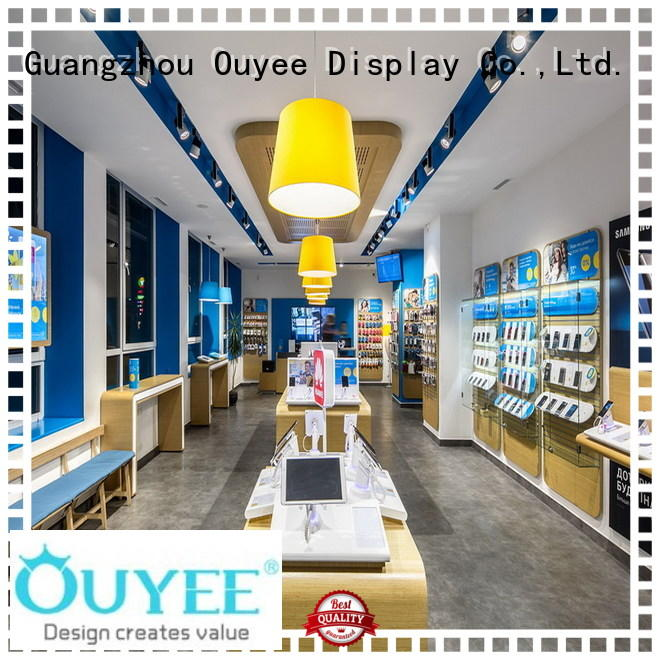 OUYEE top selling mobile shop interior design ideas free delivery for decoration