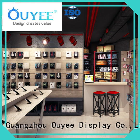 wooden mobile shop furniture fast delivery for electronics