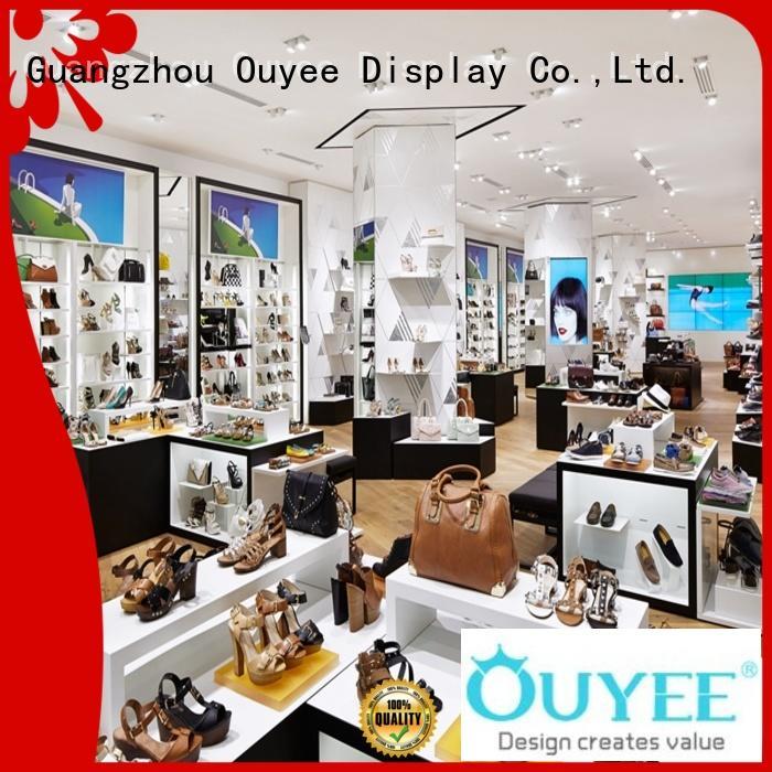 OUYEE chic shoe shop interior design popular for chain shop