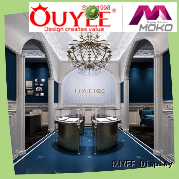 top brand commercial jewelry display cases ODM for store OUYEE
