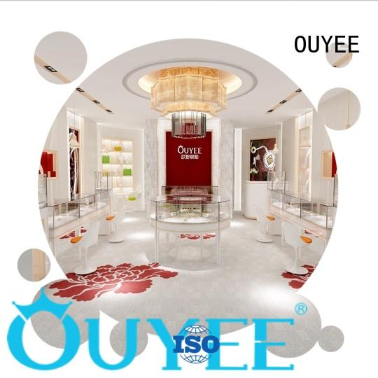 OUYEE top brand jewellery shop interior design ideas ODM for store