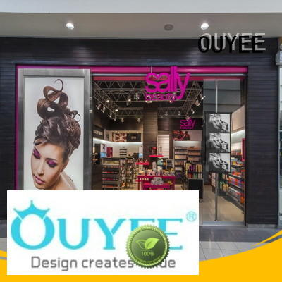 makeup retail display racks counter store OUYEE Brand cosmetic shop